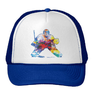 Bring It Hockey Goalie Watercolor Cap