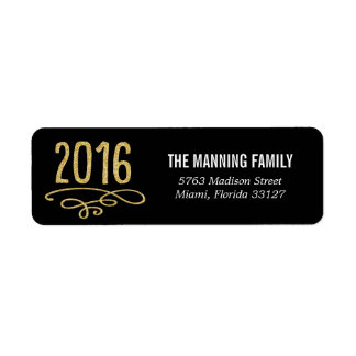 Bring It On 2016 Happy New Year Address Labels