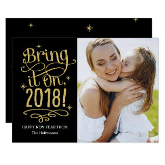 Bring It On 2018 EDITABLE COLOR New Year Card