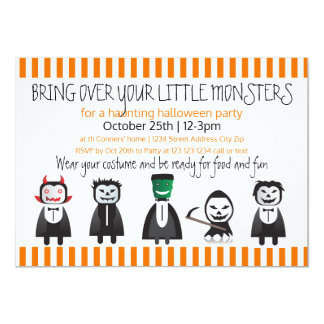 Bring over your monsters - Halloween Party Invite