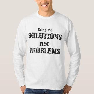Bring Solutions Motivational Modern Typography Fun T-Shirt