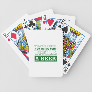 Bring Uncle a Beer Bicycle Playing Cards