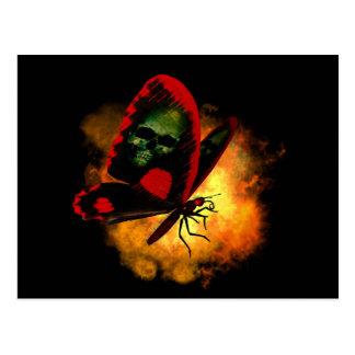 """Bringer of Death"" Butterfly Postcard"