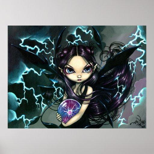 Bringer of Lightning ART PRINT Storm Fairy