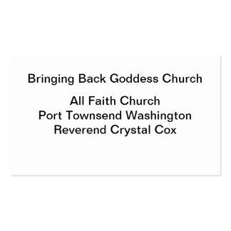 Bringing Back Goddess Church Pack Of Standard Business Cards