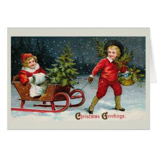 """Bringing Home Christmas Holly"" Card"