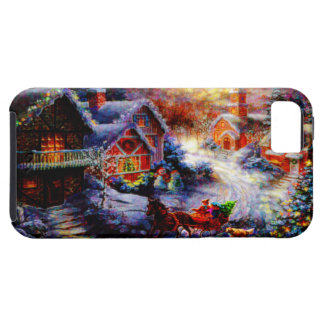 Bringing Home The Christmas Tree Tough iPhone 5 Case