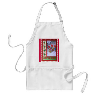 Bringing home the decorations adult apron