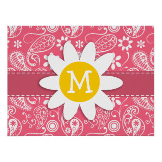 Brink Pink Paisley; Cute Daisy Posters