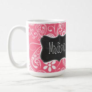 Brink Pink Paisley; Daisy Mugs