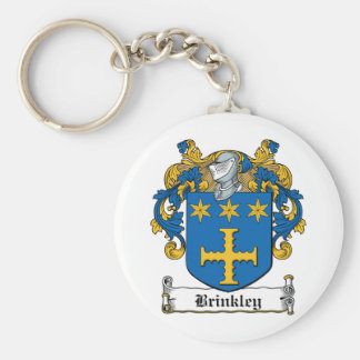 Brinkley Family Crest Basic Round Button Key Ring