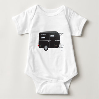 """Briquet"" The Boler Travel Trailer Baby Bodysuit"