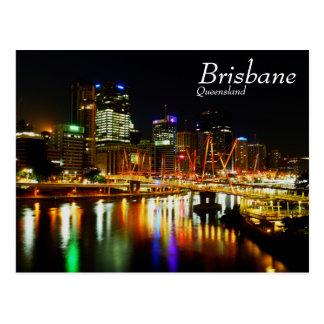 Brisbane at night 1 postcard