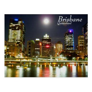 Brisbane at night postcard