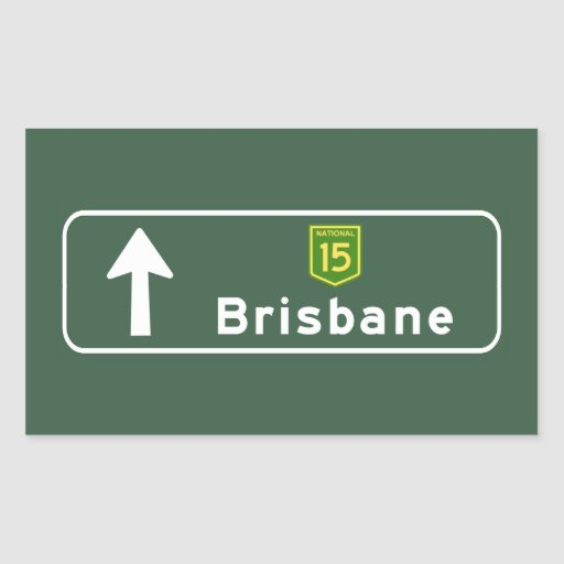 Brisbane, Australia Road Sign Stickers