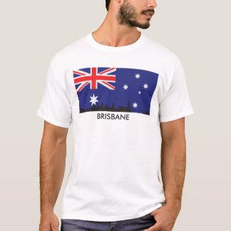 Brisbane Australia Skyline Australian Flag T-Shirt