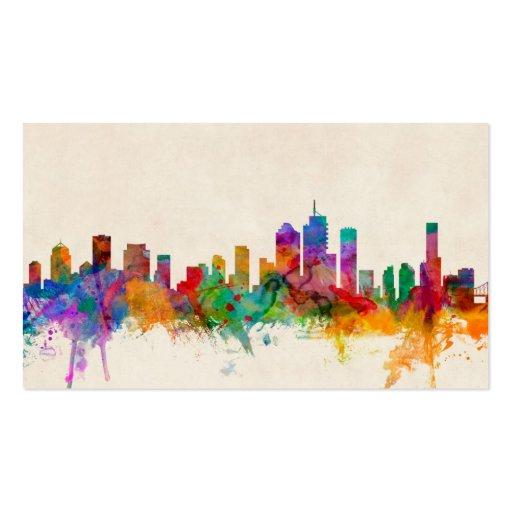 Brisbane Australia Skyline Cityscape Business Card