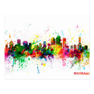 Brisbane Australia Skyline Postcard