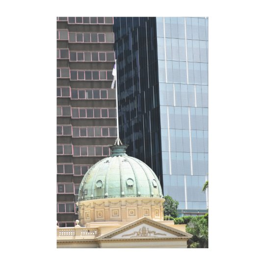 BRISBANE CITY AUSTRALIA CUSTOMS HOUSE QUEENSLAND CANVAS PRINT