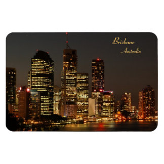 Brisbane City, Night Skyline, Austraila - Magnet