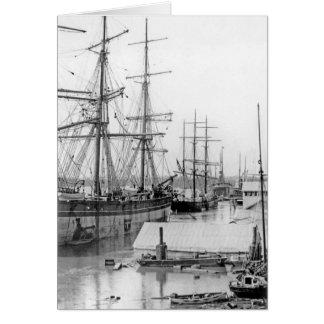 Brisbane:  Eagle Street Wharf 1893 Card
