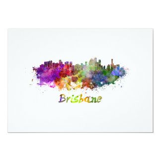 Brisbane skyline in watercolor card
