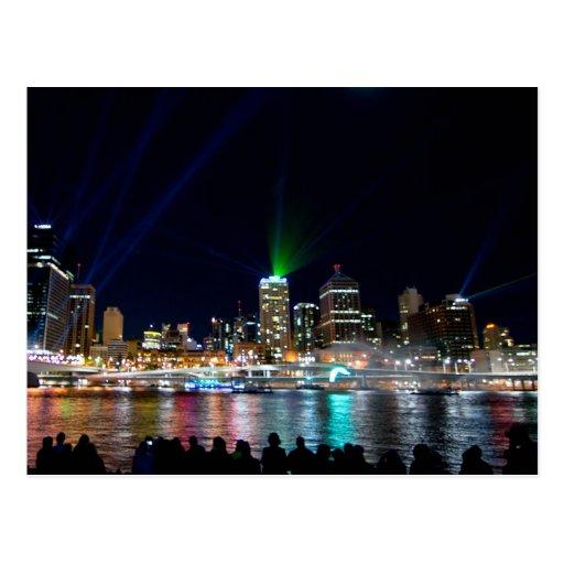 Brisbane skyline post cards