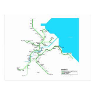 Brisbane subway postcard