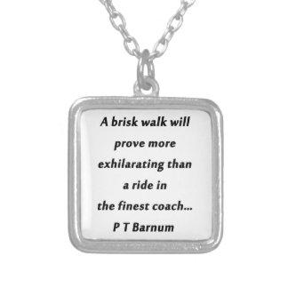 Brisk Walk - P T Barnum Silver Plated Necklace