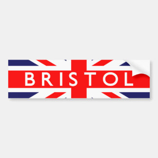 Bristol : British Flag Bumper Sticker