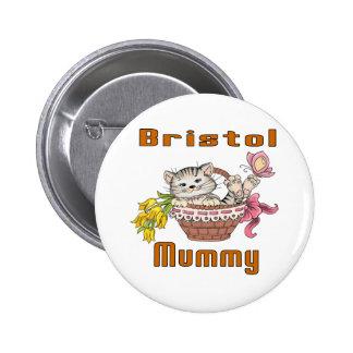 Bristol Cat Mom 6 Cm Round Badge