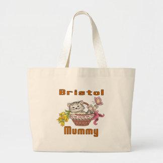 Bristol Cat Mom Large Tote Bag