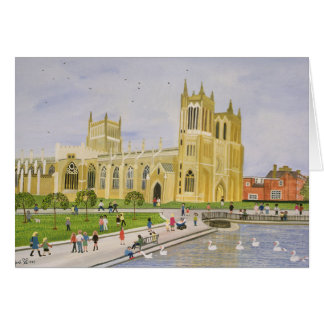 Bristol Cathedral and College Green 1989 Card