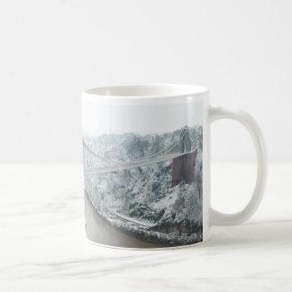 Bristol Clifton Suspension Bridge in Winter Coffee Mug