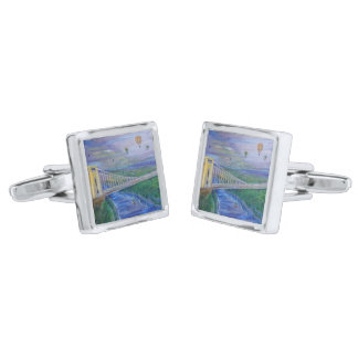 Bristol - Clifton Suspension Bridge Silver Finish Cufflinks