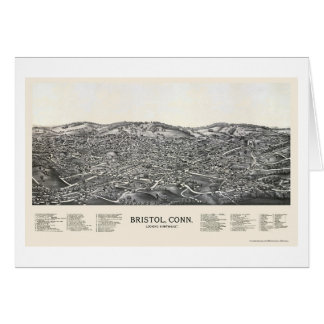 Bristol, CT Panoramic Map - 1889 Card