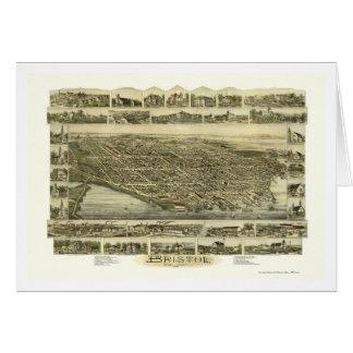 Bristol, RI Panoramic Map - 1891 Card