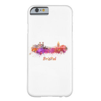 Bristol skyline in watercolor barely there iPhone 6 case