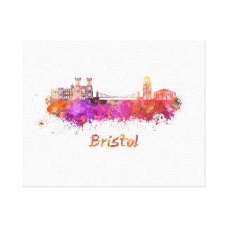 Bristol skyline in watercolor canvas print