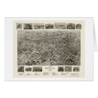 Bristol, TN Panoramic Map - 1912 Card