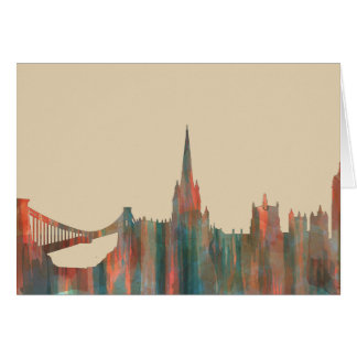 BRISTOL, UK SKYLINE CARD