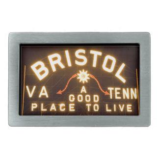 Bristol, Va, Tenn Night sign belt buckle