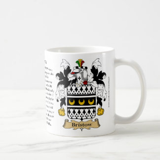 Bristow, the Origin, the Meaning and the Crest Coffee Mug