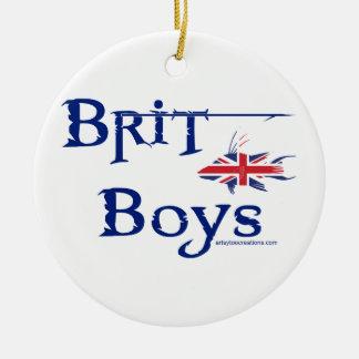 Brit Boys Ceramic Ornament