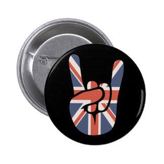 Brit Rock Hand 6 Cm Round Badge