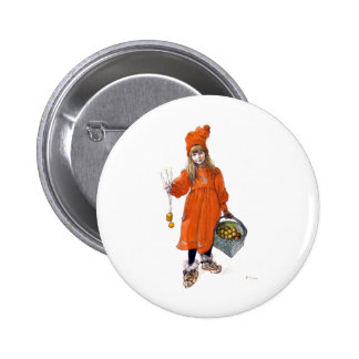 Brita Iduna with Candles and Apples Pinback Button