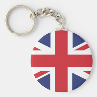 Britain Basic Round Button Key Ring