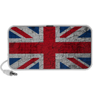 Britain flag Doodle loudspeaker