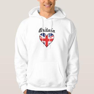 Britain Flag Heart Hoodie