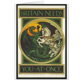 Britain Needs You At Once Dragon vs Knight Cards
